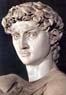 Michelangelo, 1475-1564, David, detalhe