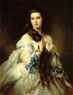 Franz Xaver Winterhalter. Portrait of Mme. Rimsky-Korsakova. 1864.