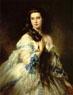 Franz Xaver Winterhalter. Portrait of Mme. Rimsky-Korsakova. 1864.