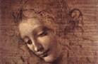 Da Vinci, La Scapigliata, detail