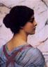 John William Godward (British, 1861-1922), Belleza Pompeiana