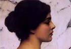 John William Godward (British, 1861-1922), Belleza Pompeiana, detail