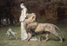 Riviere Briton, 1840-1920, UK, Una e o leão